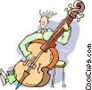 bass player Vector Clipart picture