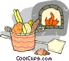 baking fresh bread Vector Clipart picture