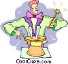 magician with magic hat Vector Clip Art picture