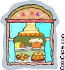 Vector Clipart graphic  of a bakery