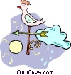 Vector Clip Art image  of a weather vane