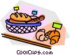 Vector Clip Art image  of a baked goods for sale
