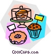 Vector Clipart illustration  of a baked goods for sale
