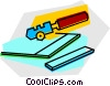 Vector Clip Art image  of a glass cutter