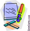 glass cutter Vector Clip Art picture
