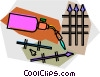 Vector Clipart image  of an acetylene torch