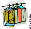 Vector Clipart picture  of a clothes at the dry cleaners