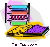 material at a fabric store Vector Clip Art picture