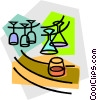 Vector Clip Art graphic  of a bar glasses