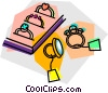 Vector Clip Art image  of a rings for sale