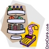Vector Clip Art graphic  of a drug store