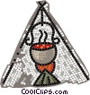 Vector Clipart image  of a cooking in a teepee