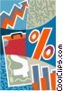 financial montage Vector Clip Art image