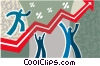 stock market Vector Clipart illustration