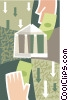 Vector Clipart picture  of a financial institution