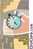 Vector Clipart graphic  of a stop watch