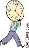 Vector Clip Art image  of a time metaphor