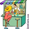 Vector Clip Art image  of a bar