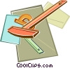 Vector Clip Art graphic  of a geometry supplies