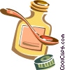 Vector Clipart graphic  of a cold medicine