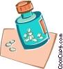 Vector Clip Art image  of a pill bottle