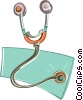 Vector Clipart image  of a stethoscope