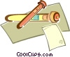Vector Clipart illustration  of a test tubes
