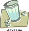 Vector Clip Art picture  of a pill container