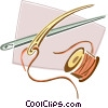 needle and thread Vector Clip Art picture