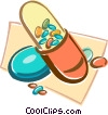 Vector Clipart illustration  of a pill