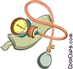 Vector Clip Art graphic  of a blood pressure cup
