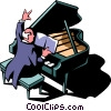 concert pianist Vector Clipart picture