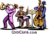jazz trio of musicians Vector Clipart image