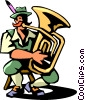 tuba player Vector Clipart picture