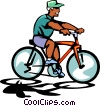 bike rider Vector Clip Art picture