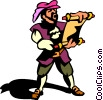 town crier Vector Clipart image