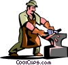 Vector Clipart image  of a blacksmith