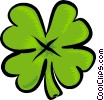 Vector Clip Art image  of a four leafed clover
