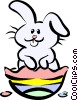 Easter rabbit Vector Clipart image