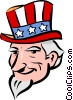 Vector Clip Art picture  of a uncle Sam