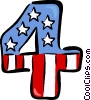 July 4th Vector Clip Art graphic