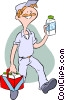 milkman Vector Clipart illustration