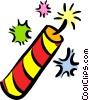 Vector Clipart illustration  of a Fireworks and Firecrackers