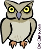 Vector Clipart illustration  of a Owls