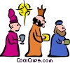 Vector Clip Art image  of a Nativity