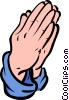 Vector Clipart graphic  of a praying