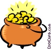Pot of Gold Vector Clipart picture