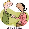 Vector Clip Art picture  of a business people shaking hands