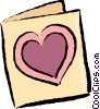Vector Clipart picture  of a Valentine Cards