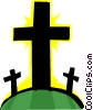 Vector Clip Art graphic  of a crosses
